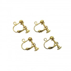 Adjustable Screwback Clip-on Leverback Earring Findings - Gold
