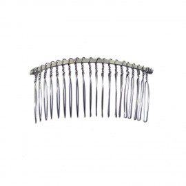 Silvertone 20-Finger Hair Comb for Beading