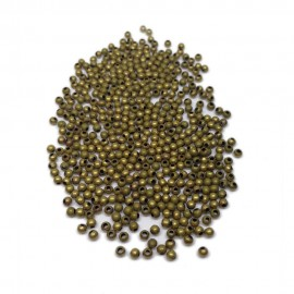 Tiny Metal Spacer Round Beads 3 mm -Antique Bronze
