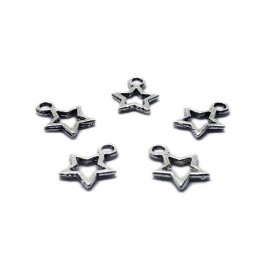 Small Hollow Star Pendant Charms