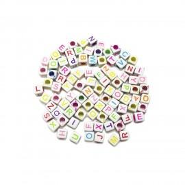 Alphabet Cube Beads 6 mm