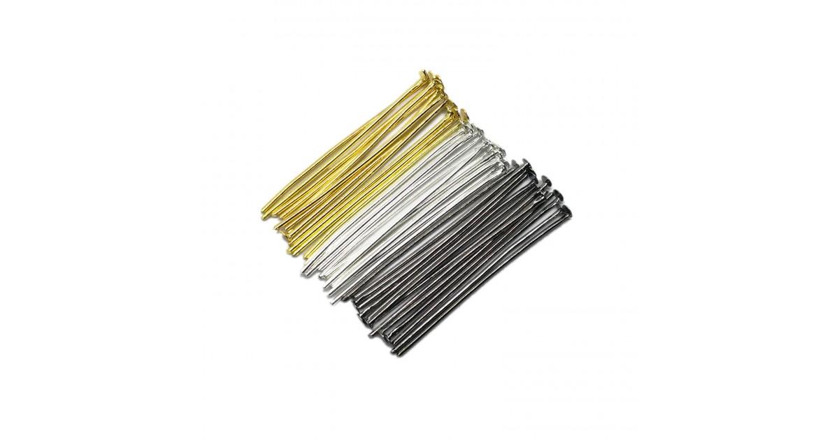 Head Pins 35 mm - Silver/Gold/Black Mixed