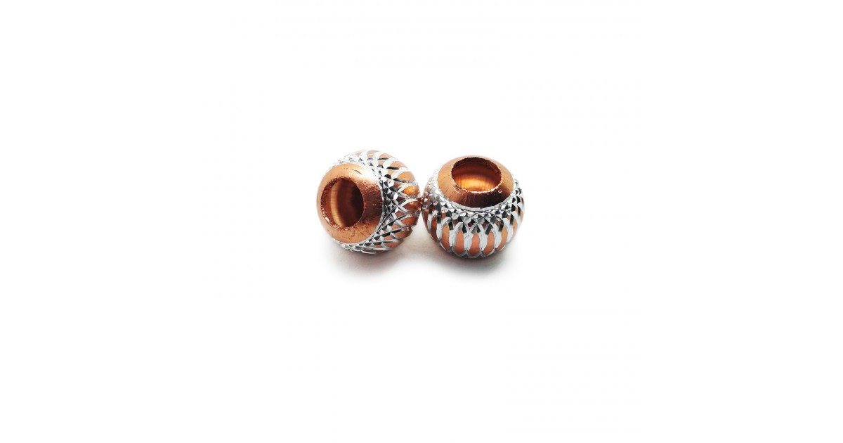 European Style Aluminum Ball Charm Beads - 15mm - Topaz