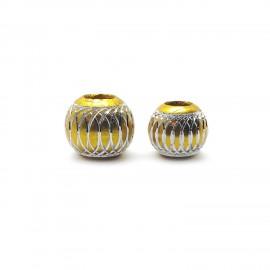 European Style Aluminum Ball Charm Beads - 12mm 15mm - Gold