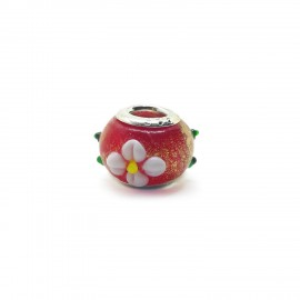 European Style Murano Glass Charm Beads - Flower A