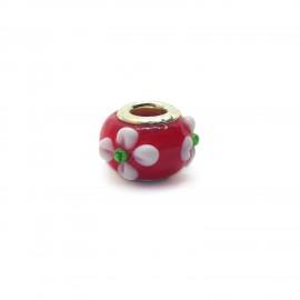 European Style Murano Glass Charm Beads - Flower B