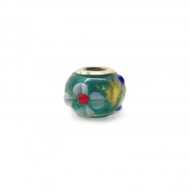 European Style Murano Glass Charm Beads - Flower C