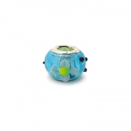 European Style Murano Glass Charm Beads - Flower D