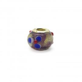 European Style Murano Glass Charm Beads - Flower H