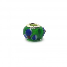 European Style Murano Glass Charm Beads - Flower I