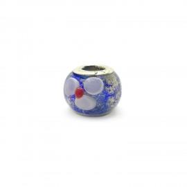 European Style Murano Glass Charm Beads - Flower J