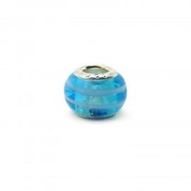 European Style Murano Glass Charm Beads - Swirl B