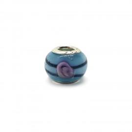 European Style Murano Glass Charm Beads - Swirl C