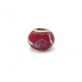European Style Murano Glass Charm Beads - Swirl D