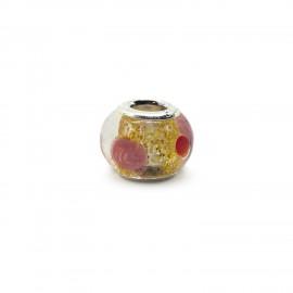 European Style Murano Glass Charm Beads - Dots B