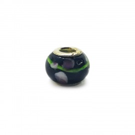 European Style Murano Glass Charm Beads - Paint B