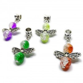 Handcrafted Angel Wing Pendants - Assorted Colors