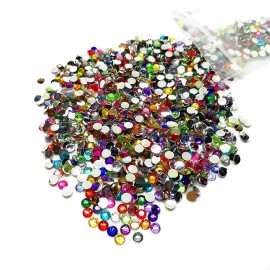Round Flat-back Rhinestone Beads 3mm -Assorted Colors