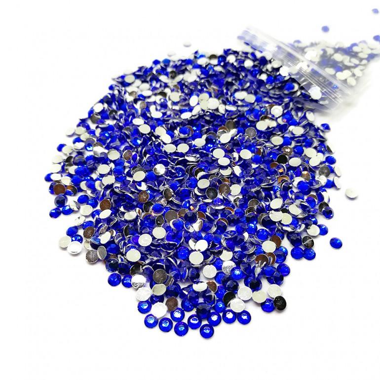 Round Flat-back Rhinestone Beads 3mm -Royal Blue