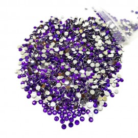 Round Flat-back Rhinestone Beads 3mm -Lavender Purple