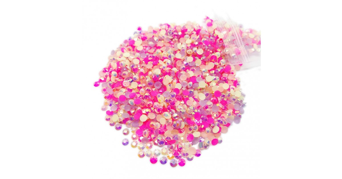Round Flat-back Rhinestone Beads 3mm - AB Romantic