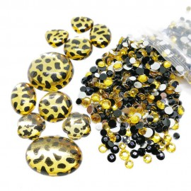 Round Flat-back Rhinestone Beads + Animal Gems