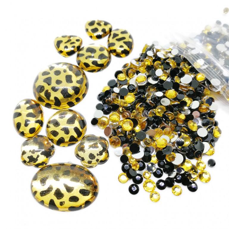 Round Flat-back Rhinestone Beads + Animal Gems