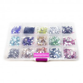 Box of 15-Color Rhinestones - 3mm