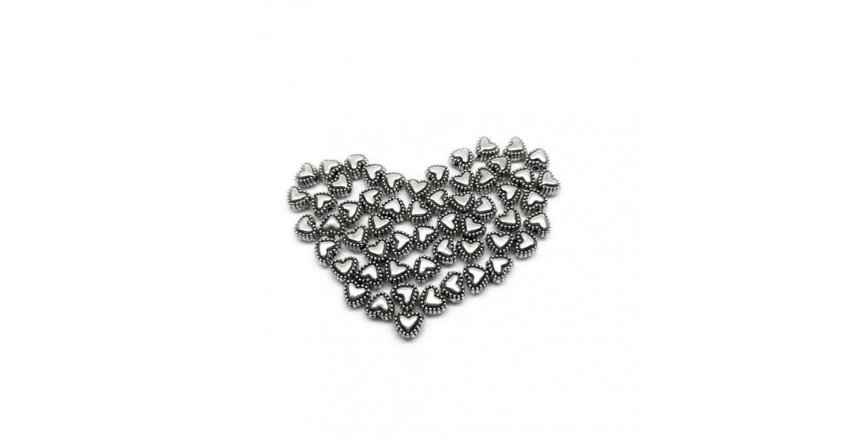 Sweet Heart Metal Spacer Beads 5 mm