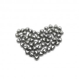 Sweet Heart Metal Spacer Beads 5 mm