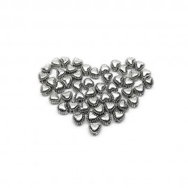 Sweet Heart Metal Spacer Beads 6 mm