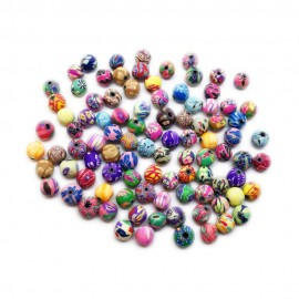 Polymer Clay Round Beads - 6mm