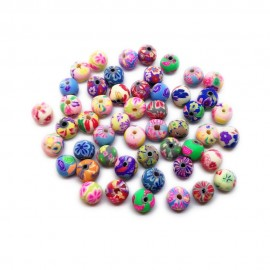 Polymer Clay Round Beads - 8mm