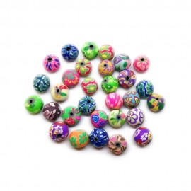Polymer Clay Round Beads - 10mm