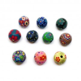 Polymer Clay Round Beads - 12mm