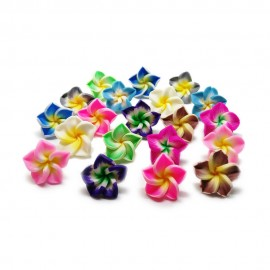 Polymer Clay Lily Flower Beads