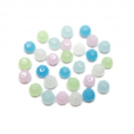 Faceted Opal Glass Crystal Rondelle Beads 8 mm - Assorted Colors