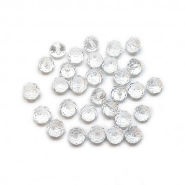 Faceted Glass Crystal Rondelle Beads 8 mm - Clear