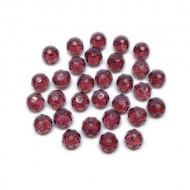 Faceted Glass Crystal Rondelle Beads 8 mm - Amythest