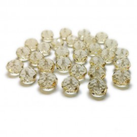 Faceted Glass Crystal Rondelle Beads 8 mm - Light Peach