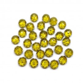 Faceted Glass Crystal Rondelle Beads 8 mm - Topaz