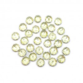 Faceted Glass Crystal Rondelle Beads 8 mm - Light Yellow