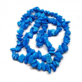 Blue Turquoise Gemstone Chip Beads