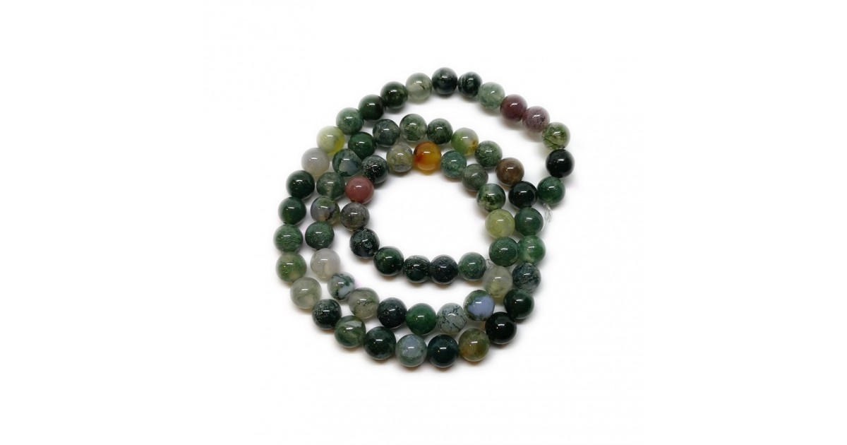 Natural Indian Agate Gemstone Round Beads 6 mm
