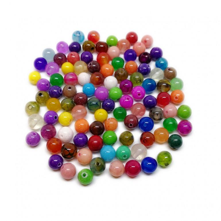 Assorted Natural Gemstone Round Beads 6 mm