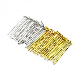 Head Pins 18 mm - Silver Gold Mixed