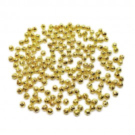 Filigree Hollow Metal Spacer Round Beads 4 mm - Gold