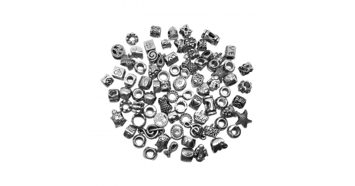 Large Hole Metal Beads