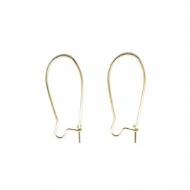 Small Kidney Ear Wires - Gold