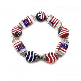 Flag of USA Elastic Bracelets